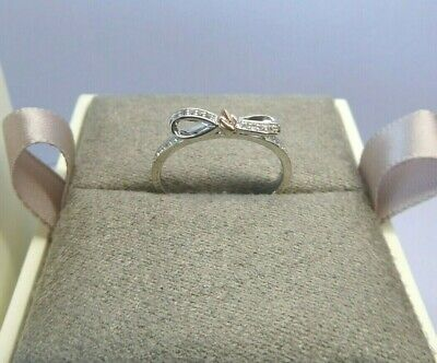 Clogau Gold, Silver & Rose Gold Tree Of Life Bow Ring Size O RRP £99. • 45£