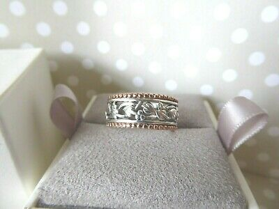 Clogau Gold, Silver & 9ct Rose Gold Wide Tree Of Life Ring, Size O RRP £330. • 118£