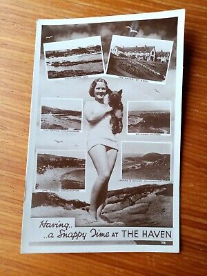 Having.....a Snappy Time At THE HAVEN. St Abbs, Coldingham. RP 10th August 1943. • 6.99£