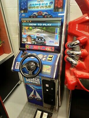 Chase HQ Arcade Machine Coin Operated Driver- Working- Takes New £1 Coin • 1,499£