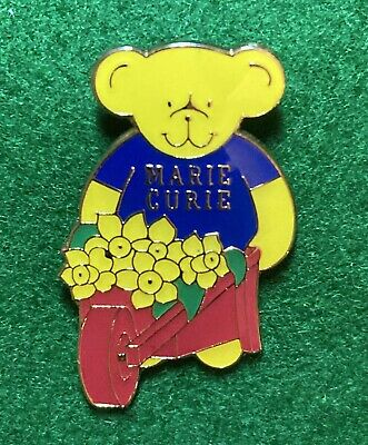 £1.99 • Buy Collectable Pin Badge - Charity - Marie Curie - Bear Red Wheelbarrow & Daffodils