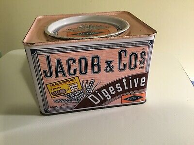 Jacob & Co.'s  Digestive Biscuits Tin From Asia. Rare. • 3.99£