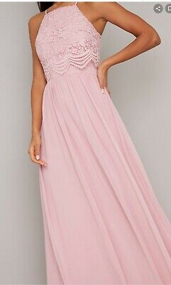 Chi Chi Ladies Karla Mink Pink Bridesmaid / Prom Dress  Size 14 New With Tags  • 30£