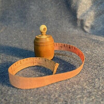 Antique Victorian Novelty Tape Measure With Stanhope Of North Wales Barrel Shape • 20£