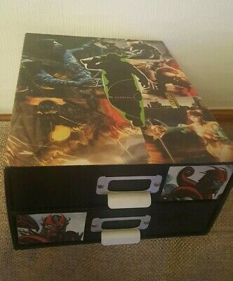 Upcycled Marvel 2 Drawer Unit Draws Size Of A4 Paper For Desk, Table Anywhere. • 10.99£