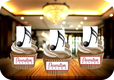 £2.99 • Buy Musical Note 12 Edible STANDUP Cake Toppers Decoration Birthday Music Singer Fun