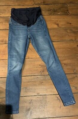 Seraphine Skinny Blue Over The Bump Maternity Jeans Size 10 • 5.50£