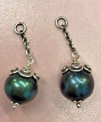 Pandora | Teal Pearl Pendant Earrings ✪new✪ 290611ptl Authentic Retired Rare Ale • 46.58£