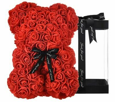 AU48.92 • Buy Valentines Day Gift For Her Red Rose Flower Large Teddy Bear Romantic Love Gift