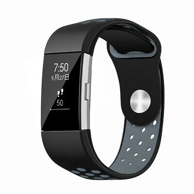 $ CDN8.83 • Buy Replacement Silicone Band Wrist Band Hole Bracelet Strap Fit For Fitbit Charge 2