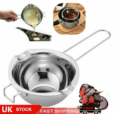 Stainless Steel Wax Melting Pot Double Boiler For DIY Wedding Scented Candle UK • 6.15£
