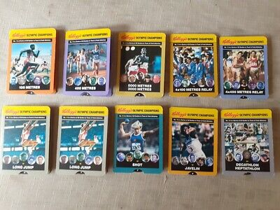 Kelloggs Oylmpic Champion Cards Trade Cards 10 Of 20 Issu • 3.99£