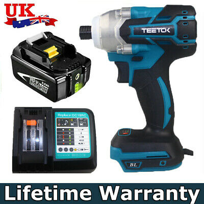 1/4 Inch Cordless Brushless Impact Driver Charger FOR Makita DTD152 18V Li-ion  • 54.85£