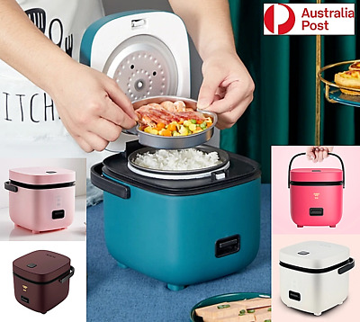 AU47.84 • Buy Electric Rice Cooker 1.2L Portable Mini Small Rice Cook 5Colours 3Cups 1-2Person