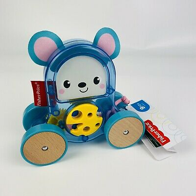 Fisher-Price Rollin' Surprise Mouse Push-Along Toy Vehicle For Baby Play Games • 11.99£