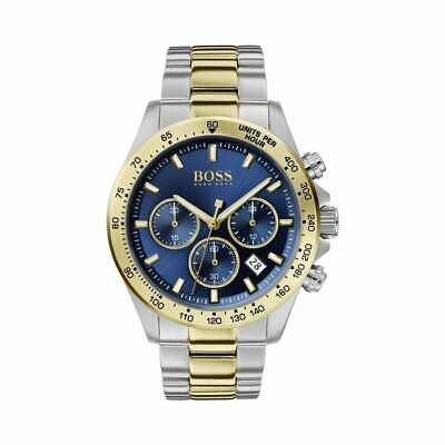 £99.99 • Buy Hugo Boss HB1513767 Hero Sport Lux Blue And Gold Chronograph Men's Watch NEW