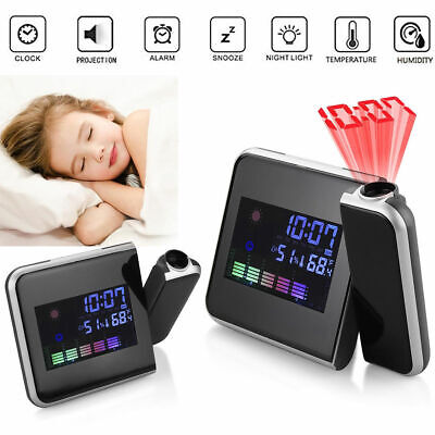 AU20.69 • Buy Alarm Clock Smart Digital LED Projection Projector LCD Display Time Temperature
