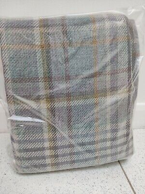 New Next Cosy Check Plaid Woven Eyelet Curtains Lined Wide Width 168x183  • 69.95£