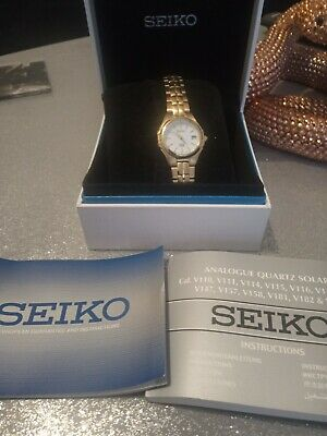 Seiko Ladies  Solar Powered Watch  Excellent Condition Working • 20£