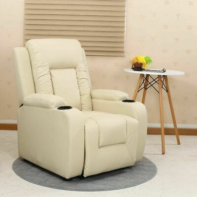 Comfortable Armchair Recliner Sofa Seat Suite Leather Furniture Back Home Cinema • 323.28£