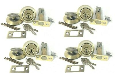 $ CDN30.19 • Buy Lot Of 4 Used Kwikset Oil Rubbed Bronze Single Cylinder Deadbolt Keyed
