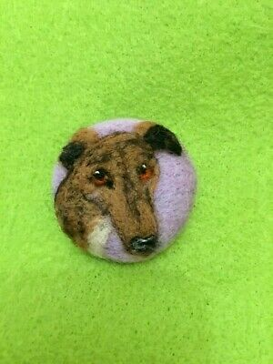 Handmade Needle Felted ' Betsy The Greyhound Dog' Brooch/Gift • 7.99£