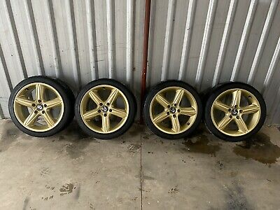 AU2249 • Buy GENUINE HSV WHEELS VT VX Gold R8 Clubsport Gts Cv8 18x8 Bridgestone Re003 Tyres