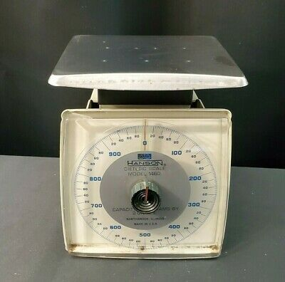 Vintage Hanson Dietetic Scale 1000 Gram Capacity Model 1460 Northbrook Il Usa • 10.95£
