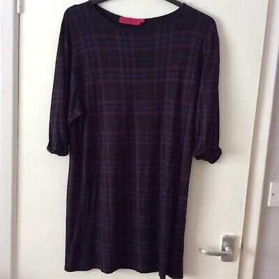 Boo Hoo Dark Checked Dress Size 10  • 0.99£