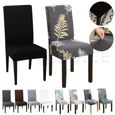 AU20.39 • Buy Stretch Dining Chair Covers Slipcover Spandex Wedding Cover 1/4/6/8Pcs Removable