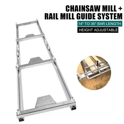 $99.85 • Buy Chainsaw Rail Mill Guide System 9ft 2.7M 4 Reinforce First Cut Saw Mill Gloves