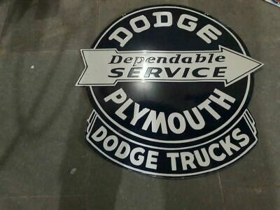 $ CDN121.24 • Buy Porcelain Dodge Plymouth Enamel Sign Size 30  X 31  Inches Double Sided
