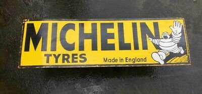 $ CDN34.10 • Buy Porcelain Michelin Tyres Enamel Sign SIZE 11  X 36  INCHES