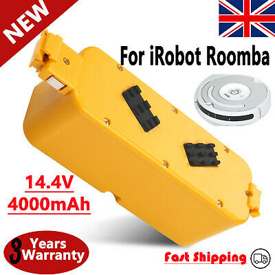 4Ah NI-MH 14.4V Battery For IRobot Roomba 400 405 410 406 416 418 4000 4100 4250 • 18.49£