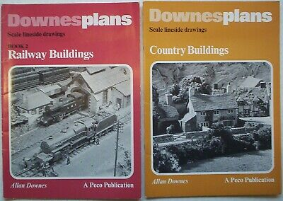 RAILWAY MODELLING. 2 X Books On Railway & Country Buildings Construction. Downes • 3.50£
