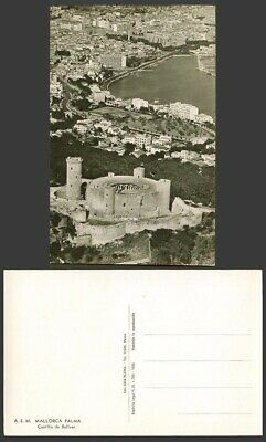 Spain Old Real Photo Postcard Mallorca Palma Castillo De Bellver Castle Panorama • 5.99£