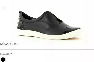 AU60 • Buy Ziera Dock Black Leather Sneakers Flats Size 40/9 XF Arch Support Brand New
