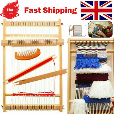 Weaving Loom Kit Looms Wooden Tapestry Hand-knitted Machine Diy Woven Set Gifts • 14.69£