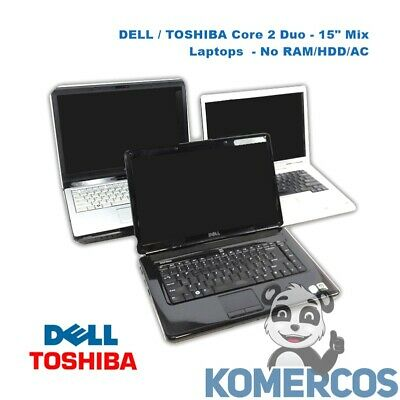 $ CDN279.51 • Buy Lot Of 3 - DELL / TOSHIBA Core 2 Duo, 15  Mix Laptops , No RAM/HDD/AC.  A