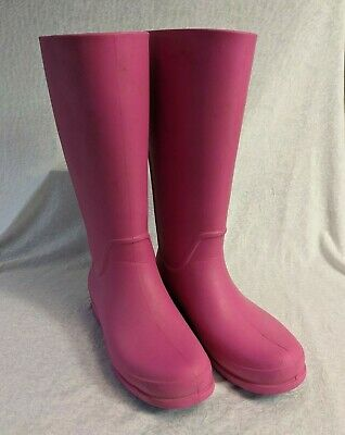 CROCS Wellington Boots Pink Size US 10 UK 8 • 6.99£