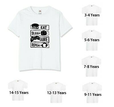 Eat Sleep Game Repeat Mens Kids T-Shirt Funny Playstation Xbox Gift • 5.99£