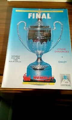Fa Vase Final Colne Dynamoes V Emley 1988 Football Programme • 1.99£