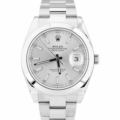 $ CDN10095.59 • Buy 2020 Rolex DateJust 41 Silver Stainless Steel 41mm Smooth Oyster  Watch 126300