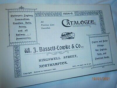 TOADL 1904 Reprint Bassett Lowke Model Railway Catalogue Hardback Book • 1.10£