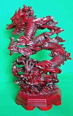 Red Resin Dragon Figurine Table Piece • 60£