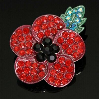 £7.99 • Buy  Stone Encrusted Popppy Pin Badge - Charity: Help For Heroes