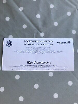 Southend United Football Club With Compliments Roots Hall United Artists Shirt L • 2.99£