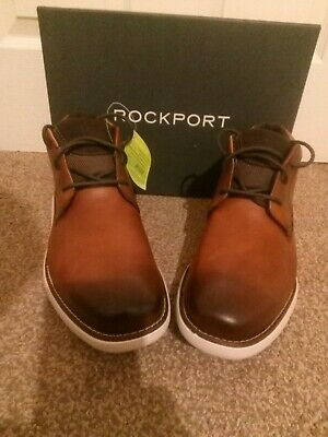 Men's Boots Rockport   Design Timberland 100/% Leather Chukka Boots, Size 9 • 64.99£