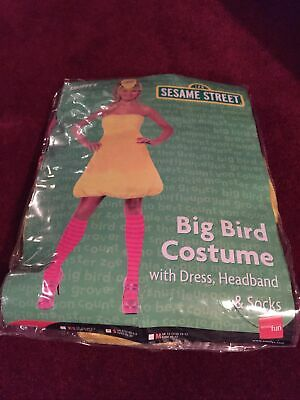 Big Bird Costume With Dress, Headband & Socks  • 1.40£