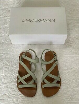 AU49 • Buy Zimmerman Flat Leather Sandals
